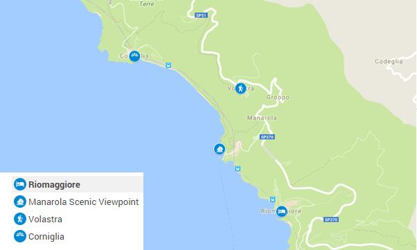 Carte Cinque Terre